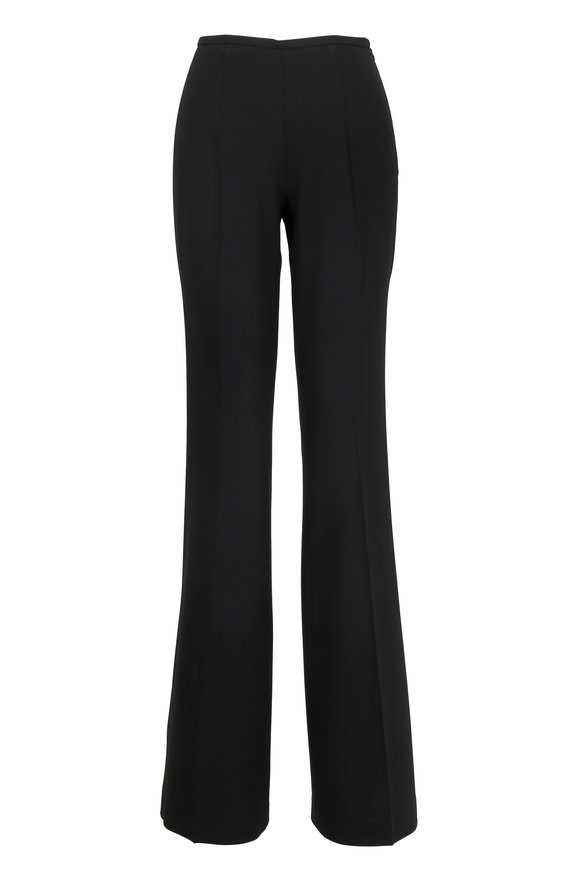 Michael Kors Collection Black High-Rise Crepe Flare Pant