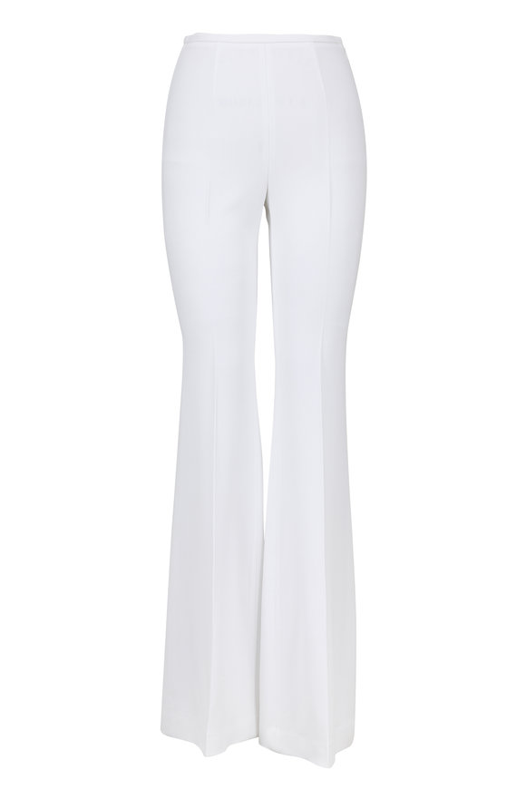 Michael Kors Collection Optic White High-Rise Flared Pant
