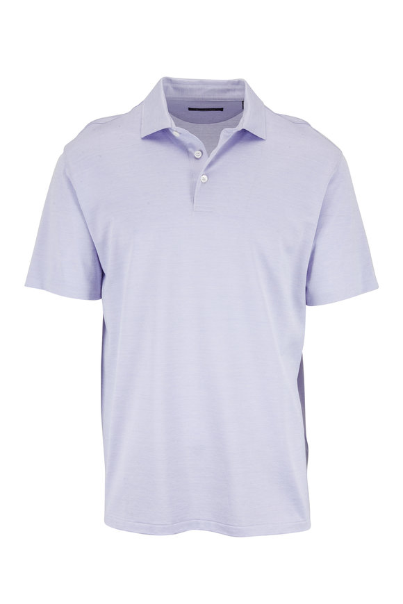 Ermenegildo Zegna Lavender Silk & Cotton Polo