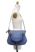 Chloé - Marcie Street Blue Leather Medium Shoulder Bag
