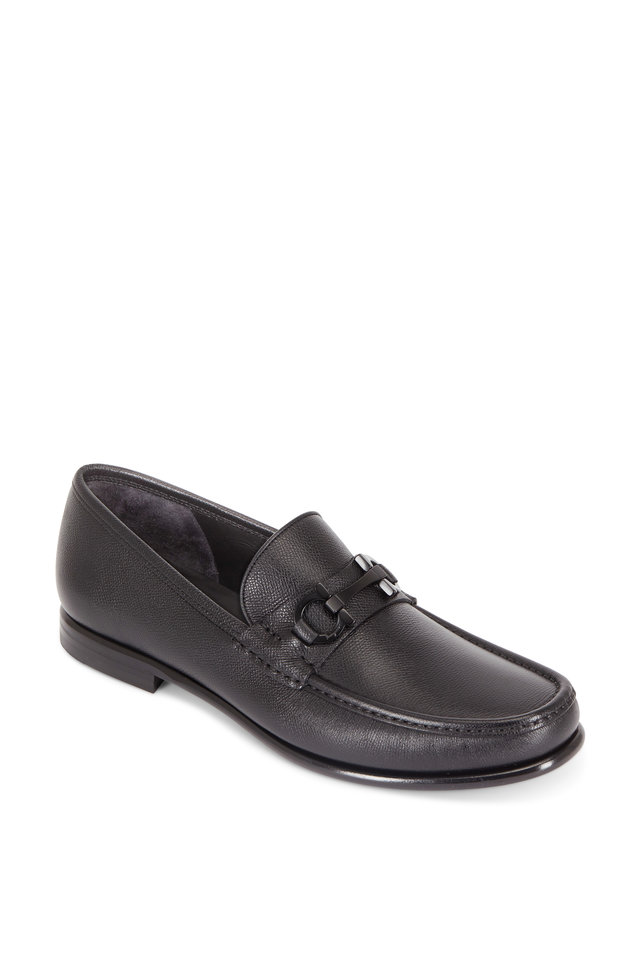 Salvatore FerragamoCrown Bit Leather Loafers FSAWo