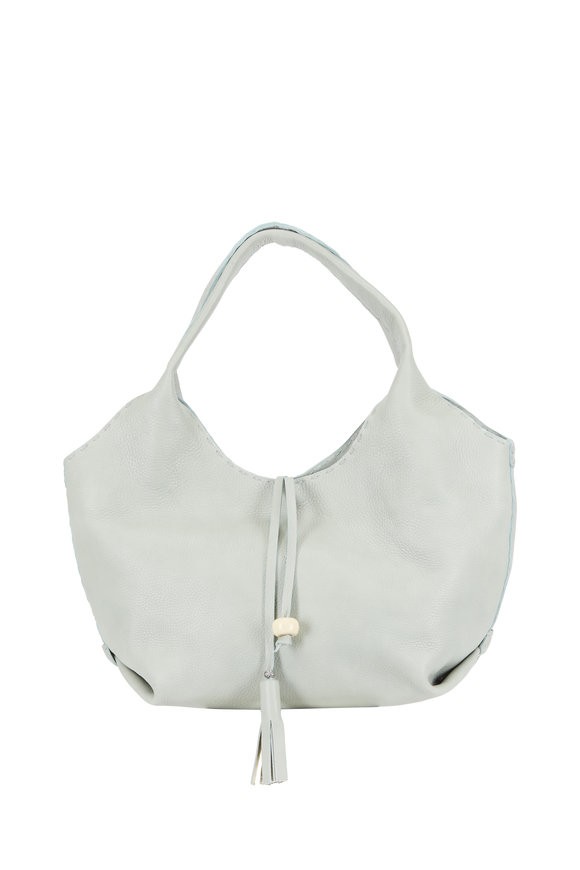 Henry Beguelin Canotta Happy Seafoam Cervo Hobo Bag