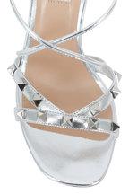 2762f37573bf Valentino Garavani - Free Rockstud Silver Criss-Cross Sandal