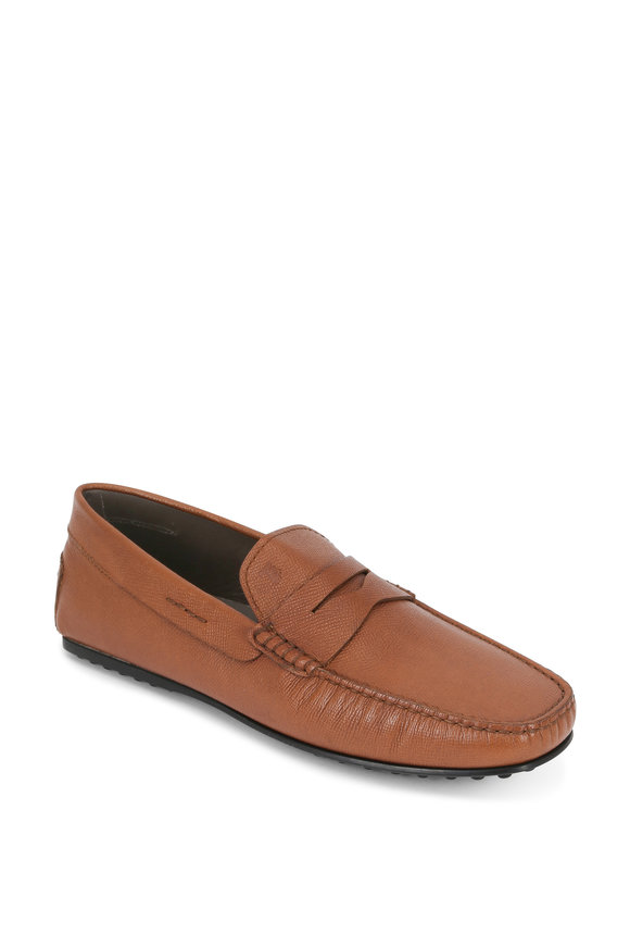 Tod's City Gommino Biscotto Leather Penny Loafer