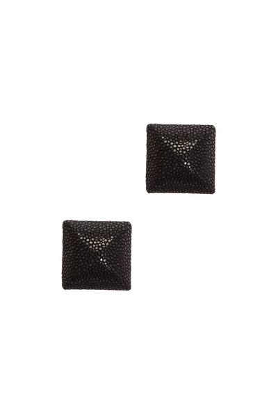 Kathleen Dughi - Sterling Silver Stingray Button Earrings