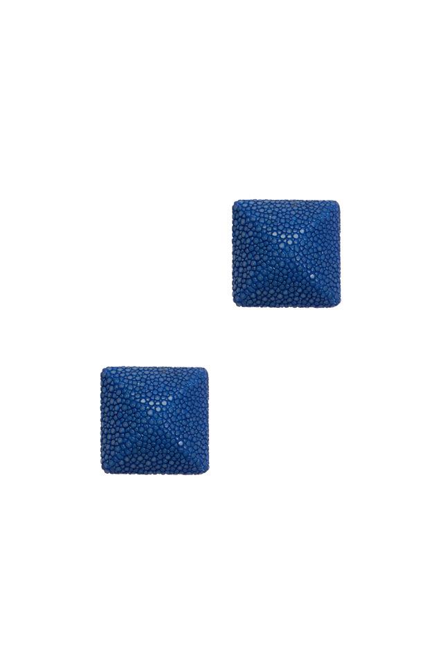 Raya Blue Sapphire Button Earrings