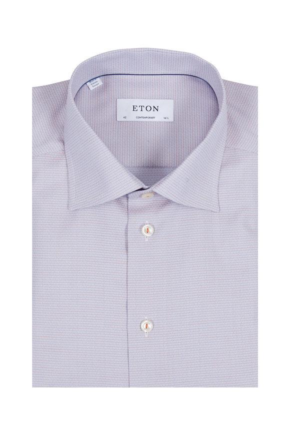 Eton Orange & Blue Contemporary Fit Dress Shirt