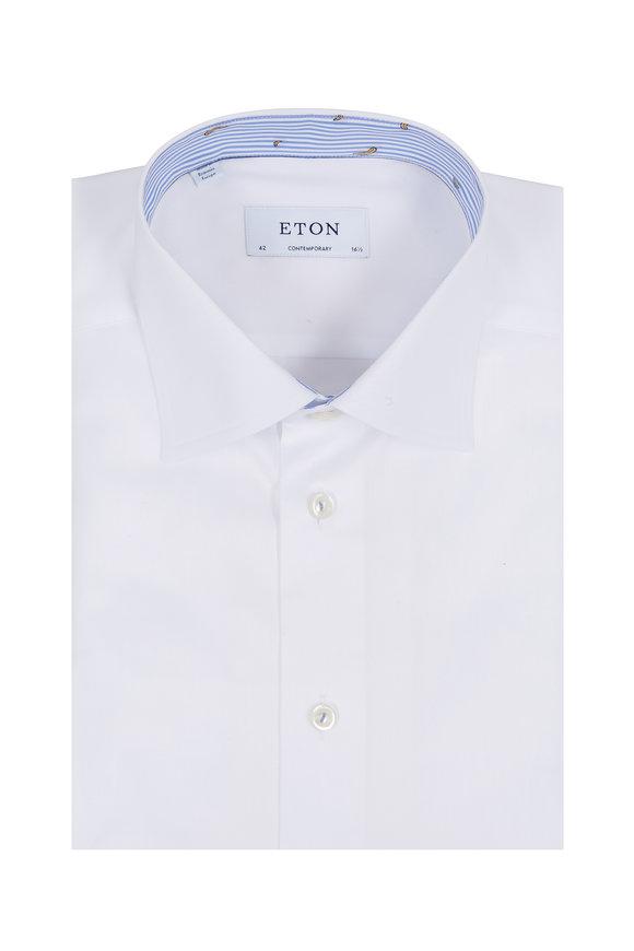 Eton White Contemporary Fit Dress Shirt