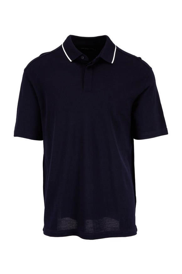 Z Zegna Navy Techmerino Performance Polo