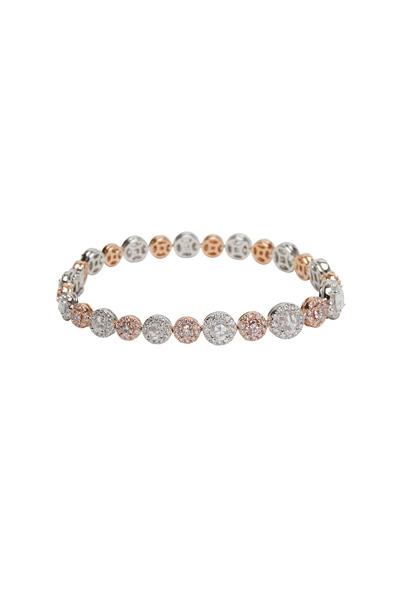 Kathleen Dughi - 18K White Gold & Pink & White Diamonds Bracelet
