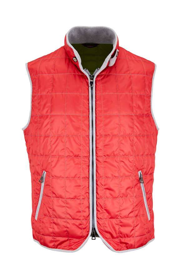 Waterville Rose Red Box Quilted Vest