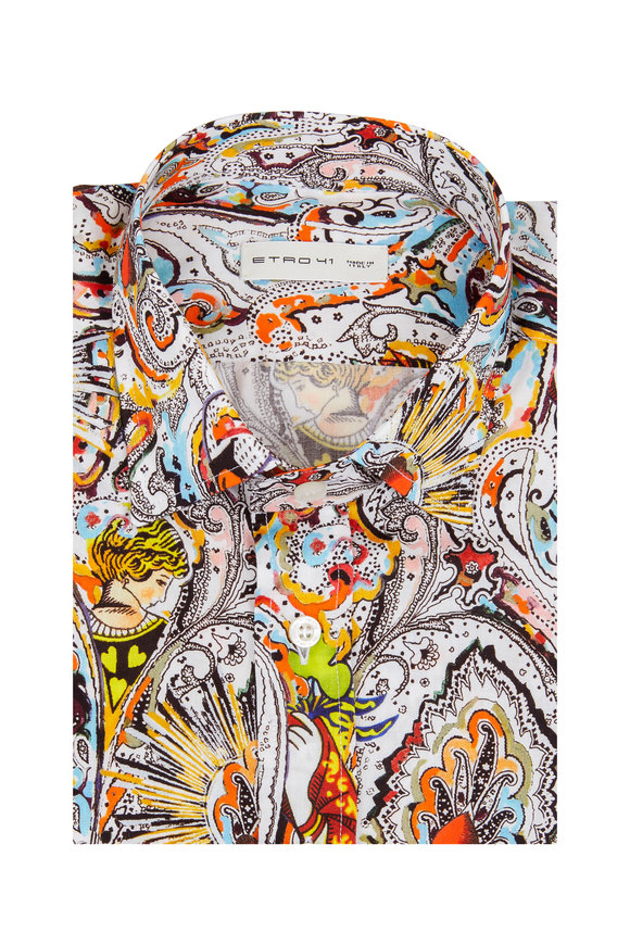 Etro Multicolored Printed Sport Shirt