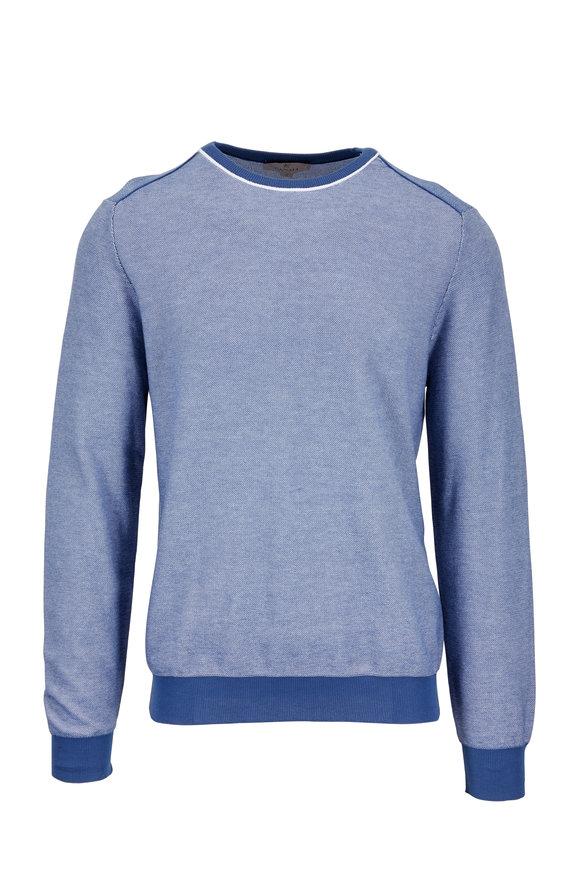 Canali Nacy Cotton Birdseye Texture Sweater