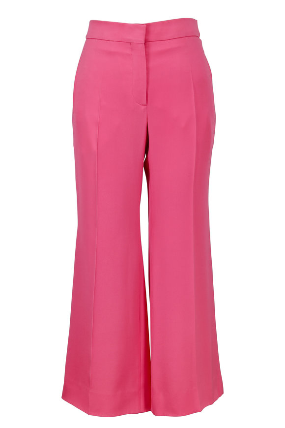 Valentino Pink Silk Flared Pant