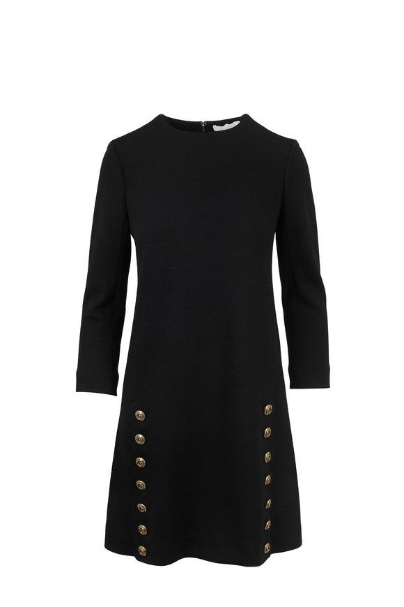 Chloé Black Wool Side Button Dress