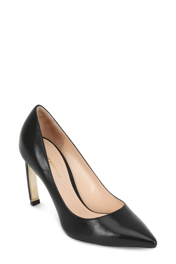 Nicholas Kirkwood Maeva Black Leather Pearl Inset Pump, 90mm