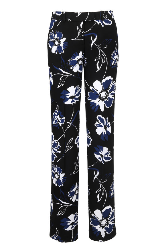 Michael Kors Collection Sapphire Flower Print Pant