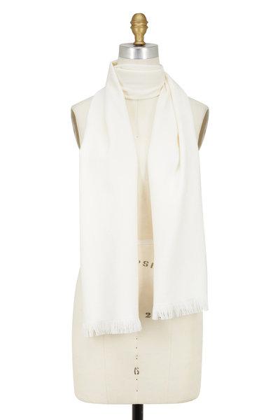 Gucci - Sten Ivory Wool Scarf