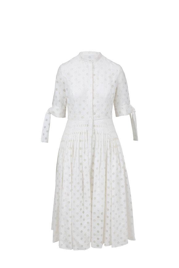 Carolina Herrera White Illusion Dot Shirt Dress