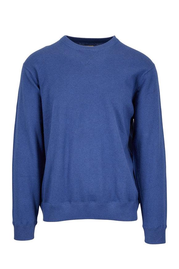 Faherty Brand Denim Heather Cotton & Cashmere Sweater
