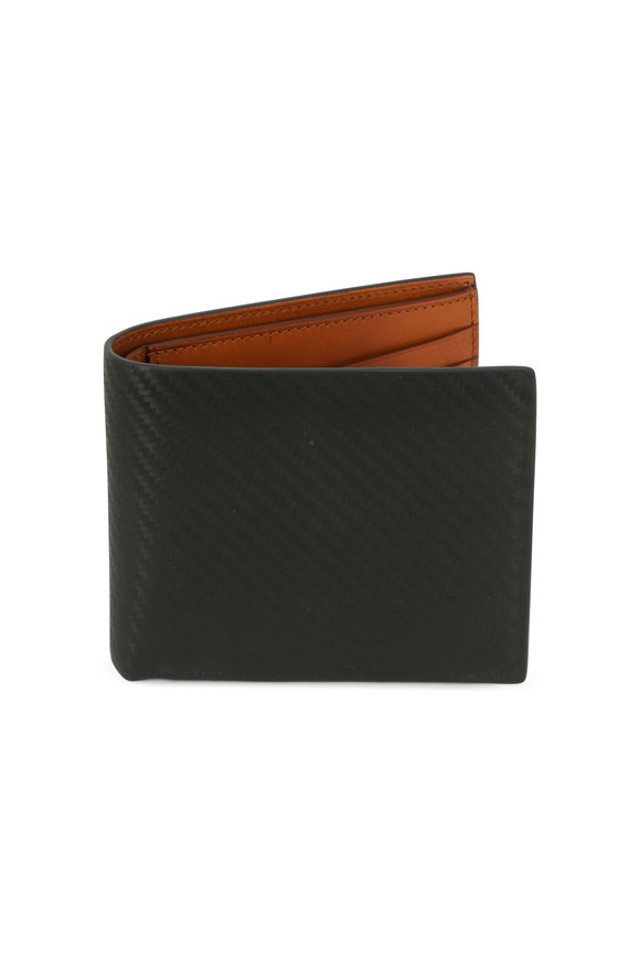 Dunhill Chassis Olive Green  Fold-Over Wallet