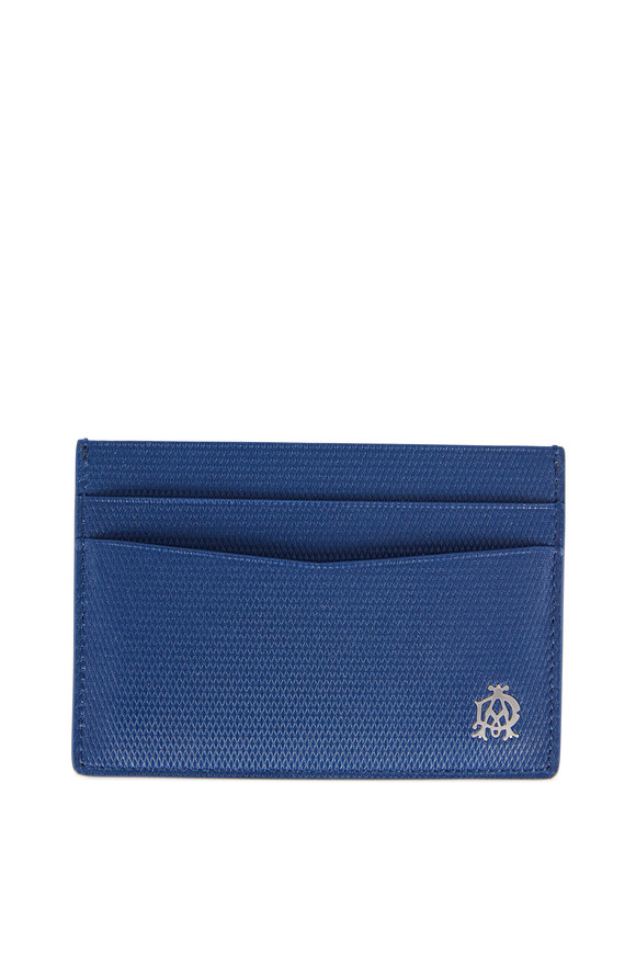 Dunhill Dark Blue Grained Leather Card Case