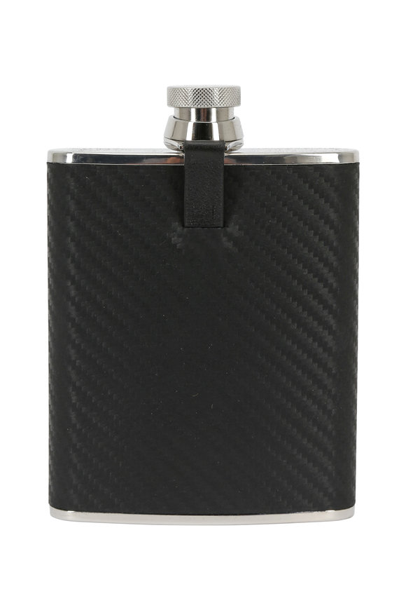 Dunhill Black Leather Hip Flask