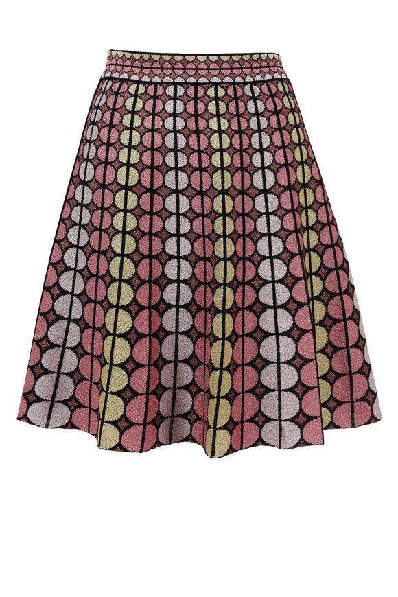 M Missoni Black Multicolor Lurex Dot Full Skirt