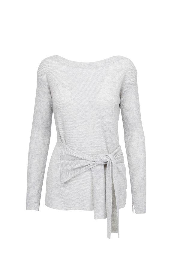 Brochu Walker Ayers Grey Cashmere Front Wrap Sweater