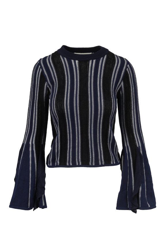 Jonathan Simkhai Midnight Bell Sleeve Knit Sweater