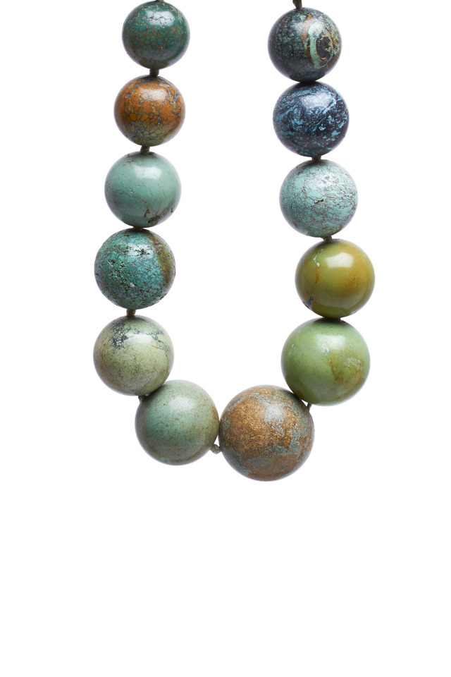 Sterling Silver Turquoise Beaded Choker