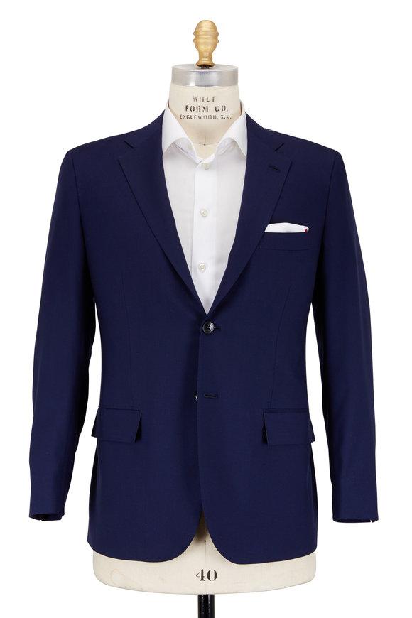 Kiton Navy Blue Cashmere Sportcoat
