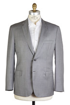 Brioni - Light Gray Sharkskin Wool Suit