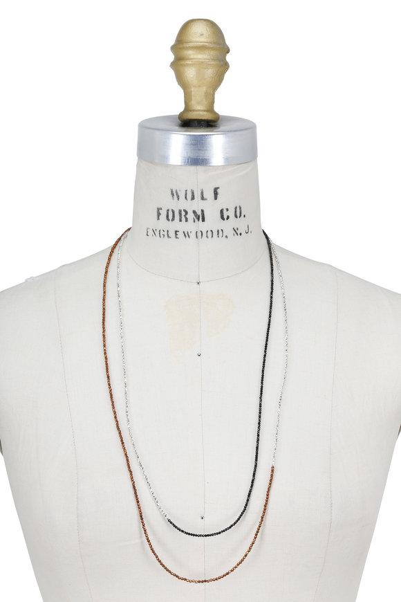 Brunello Cucinelli Copper Beaded Convertible Wrap Necklace