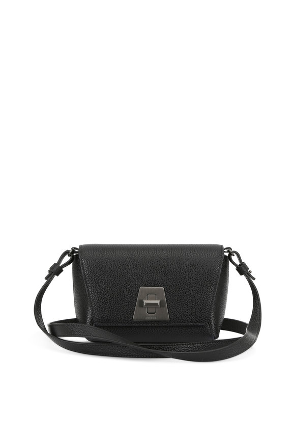 Akris Anouk Black Grained Leather Small Clutch