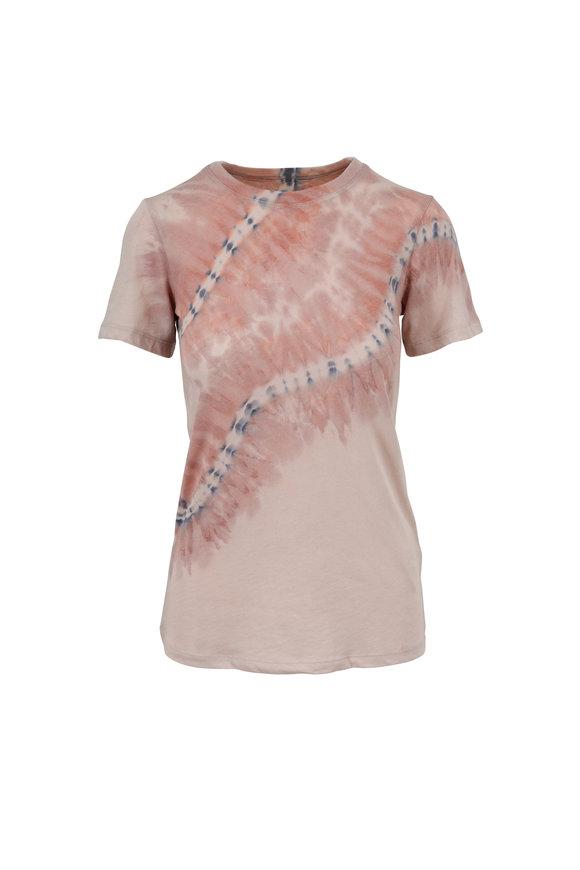 Raquel Allegra Nude Tie-Dye Slim Fit T-Shirt