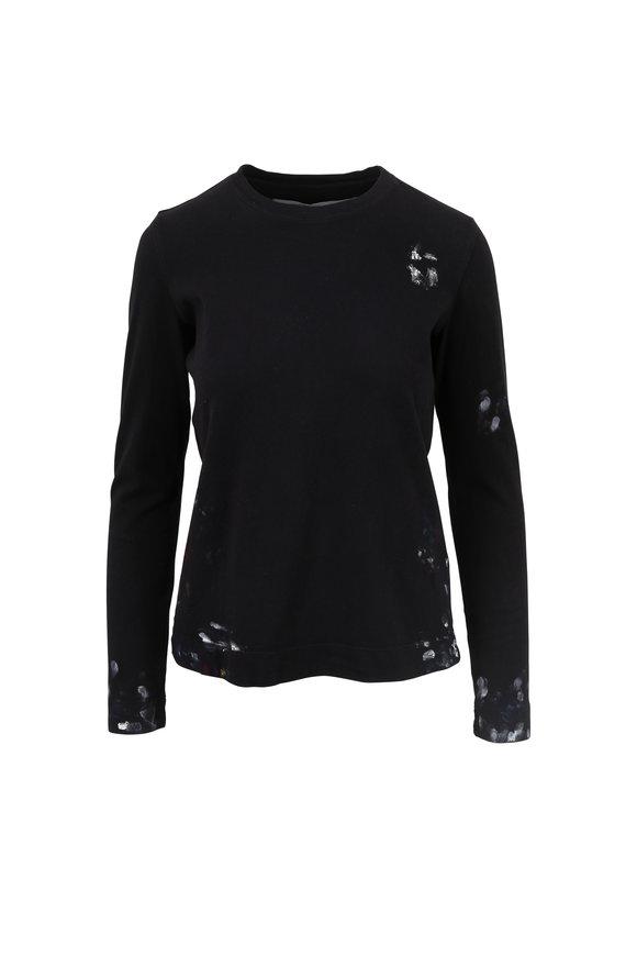 Raquel Allegra Black Paint Splatter C Long Sleeve T-Shirt