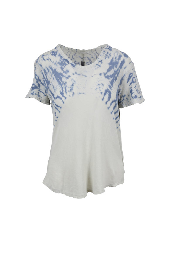 Raquel Allegra Dusty Blue Tie-Dye Boxy T-Shirt