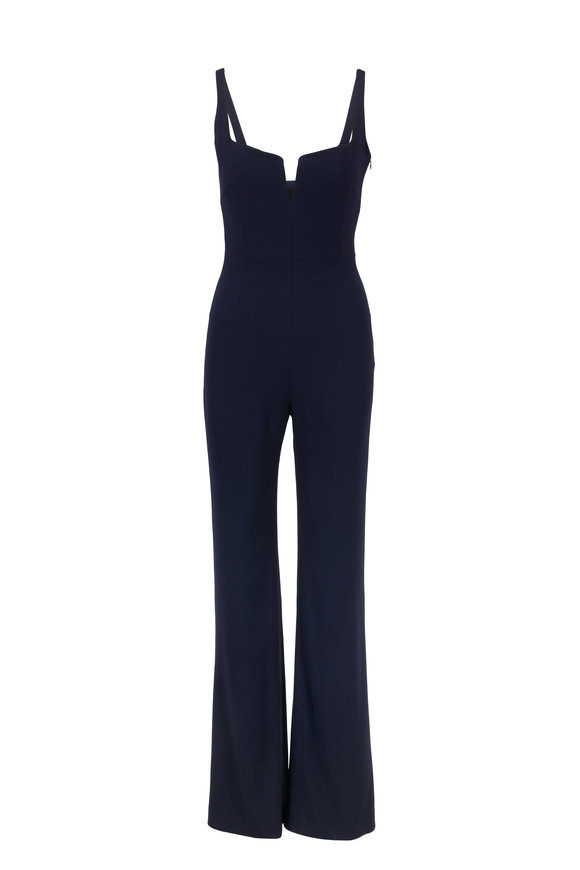Galvan Signature Corset Midnight Jumpsuit