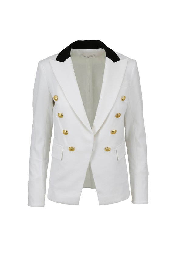 Veronica Beard Jack White & Black Riding Jacket