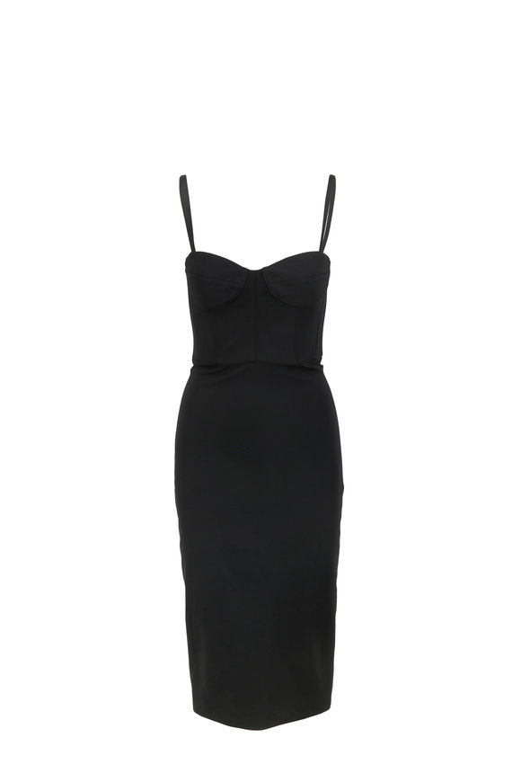Cushnie et Ochs Black Corset Top Pencil Dress