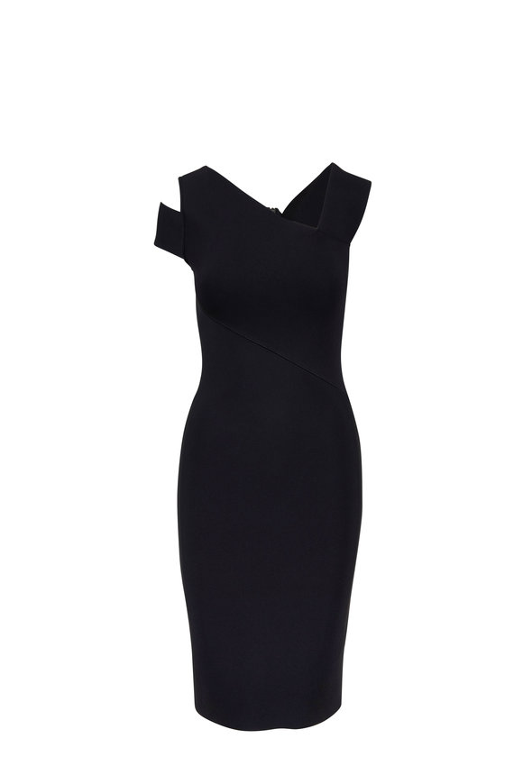 Roland Mouret  Barnsley Black Fitted Dress