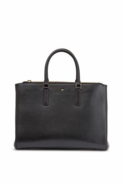 Anya Hindmarch - Soft Ebury Black Leather Large Satchel