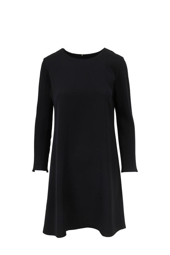 Peter Cohen Black Long Sleeve Silk Tour Dress