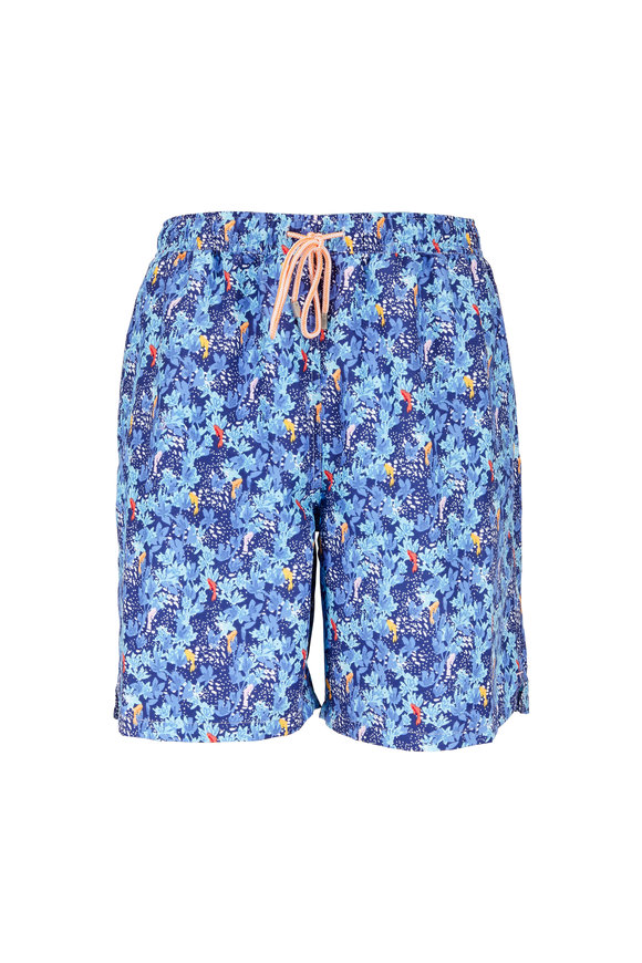 Peter Millar Seaside Collection Navy Under The Sea Swim Trunks