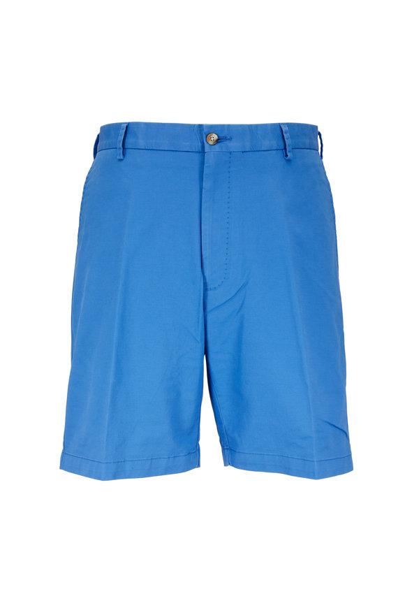 Peter Millar Barrier Blue Soft Stretch Twill Shorts