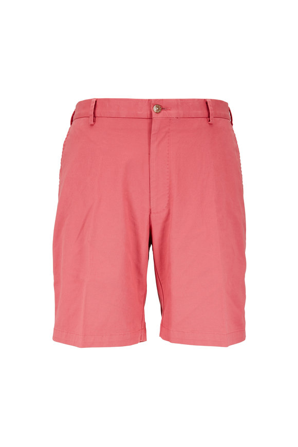 Peter Millar Cape Red Soft Stretch Twill Shorts