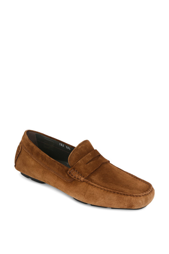 To Boot New York Mitchum Tan Suede Driver