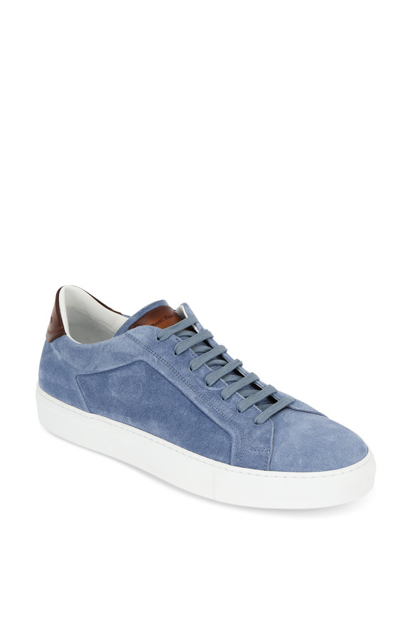 To Boot New York Britt Light Blue Suede Low-Top Sneaker