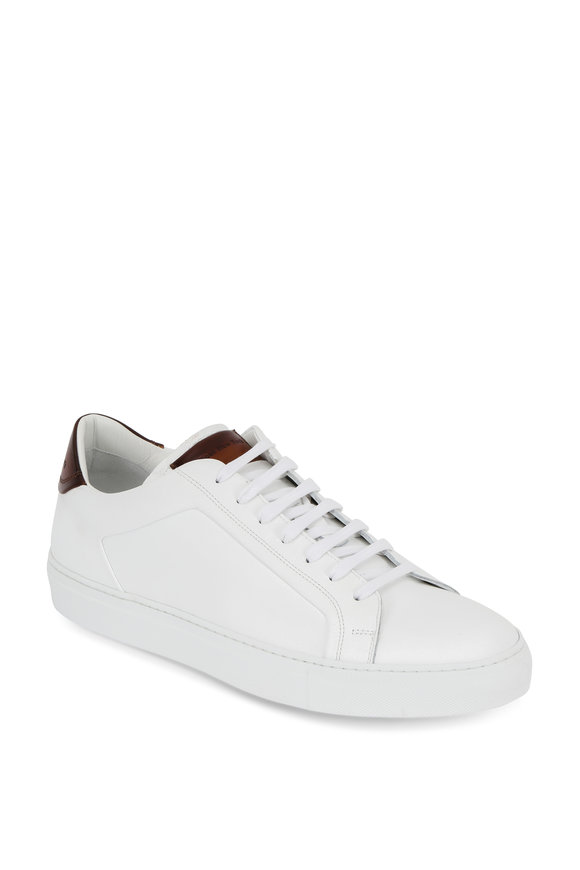 To Boot New York Carlin White Leather Low-Top Sneaker
